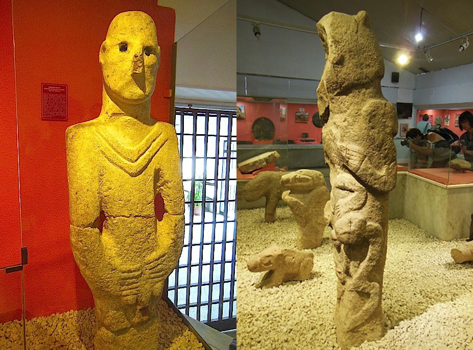 Above Left, Early Neolithic Statue, C. 9000 BC, In Sanliurfau0027s  Archaeological Museum. Above Right, Stone Totem Pole From Gobekli Tepe In  Sanliurfau0027s ...